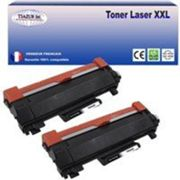 2 Toners compatibles Brother TN2420 pour Brother MFC L2730DW, L2750D, L2750DW (avec puce)-3000 pages-20f PPA6-T3AZUR