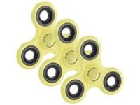 3 Hand spinners 3 branches - Phosphorescent (jaune) Pearl