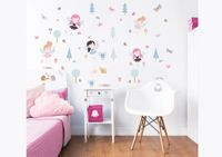 63 Stickers enfants Fees de la foret Walltastic
