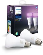 Ampoule PHILIPS Pack x2 E27 Hue White & colors