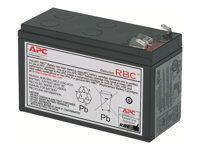 APC Replacement Battery Cartridge #2 - Batterie d'onduleur - 1 x Acide de plomb - noir - pour P/N: AP250, BE500TW, BK250B, BK350EIX545, BK500-CH, BX900R-CN, CP27U13NA3-S, PBP4A32L630