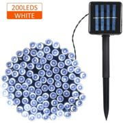 Asupermall - Guirlande Lumineuse Solaire, 2 Modes D'Eclairage, 200 LED, Blanc