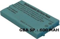 Batterie Pour Nintendo Gameboy Advance Sp (Gba Sp) - 600 Mah 3,7 V + Tournevis - Ags-003