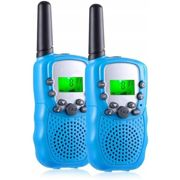 Betterlife - Walkie Talkies Toys for 3-12 Year Old , 22 Channels 2 Way Radio 3 Miles Range Gifts for 4-14 Year Old Boys Girls Outdoor Adventures Hiking Camping (Blue, 2 Pack)