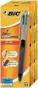 Bic, Stylo 4 Colours Grip Pro, Rechargeable, Pointe Moyenne