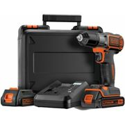 Black & Decker ASD18KB Perceuse visseuse sans fil 18V Li-ion 2 Batteries Coffret