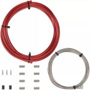 Câbles de frein LifeLine Essential (Shimano/SRAM, route) - Rouge - 2 x 2000mm Inner cable, 1 x 2100mm Outer, Rouge