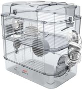 Cage Duo rody3. couleur Blanche. taille 41 x 27 x 40.5 cm H. pour rongeur