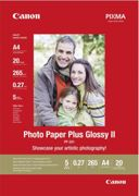 CANON Papier Photo PP-201 Plus Glossy II 265g A4 20 Feuilles