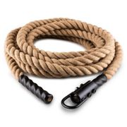 Capital Sports Power Rope Avec Crochets 9m 3,8cm Corde Chanvre Fixation Plafond Multicolore