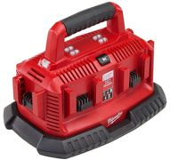 Chargeur MILWAUKEE M1418 C6 - 14-18V Multibay pour 6 batteries - 4932430086