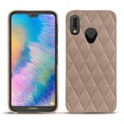 Coque cuir Huawei P20 Lite - Exception Couture Taupe vintage - Couture