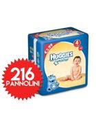 Couches Huggies Unistar Taille 4 - 216 Couches