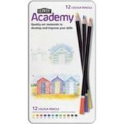 DERWENT ACADEMY COLOURING PENCILS HIGH -QUALITY PIGMENTS ASSORTED REF 2301937 [PACK 12]