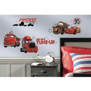 DISNEY CARS - Stickers repositionnables Cars, film d'animation Disney - Rouge