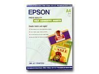 Epson Photo Quality Self Adhesive Sheets - Feuilles autocollantes - A4 (210 x 297 mm) - 167 g/m² - 10 unités - pour Expression Home XP-245, 342, 442; SureColor P800; WorkForce ET-16500