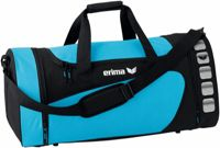 Erima Club 5 Sports bag - Curacao / Black - L bleu clair,noir L/L