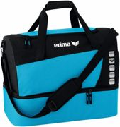 Erima Club 5 Sports bag with bottom compartment - Curacao / Black - M bleu clair,noir M/M