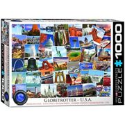 "Eurographics 6000-0750 Puzzle (1000 Pièces) """"Usa Globetrotter"""""