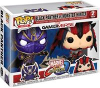 Figurine Pop - Marvel Vs Capcom - Pack Black Panther Vs Monster Hunter - Funko Pop