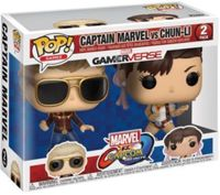 Figurine Pop - Marvel Vs Capcom - Pack Captain Marvel Vs Chun-Li - Funko Pop