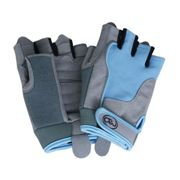 Fitness Mad Womens Blue Cross Training Gloves Medium