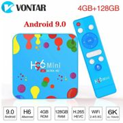 H96 Mini 6K Android 9.0 TV Box Allwinner H6 Quad Core 4GB 128GB double Wifi Support Google Player Youtube décodeur 4GB 32GB