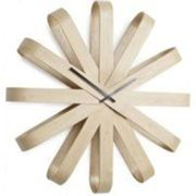 Horloge Design en Bois RibbonWood - Umbra Marron clair