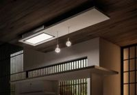 Hotte plafond Elica LULLABY WH WOOD/F/120