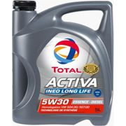 Huile moteur TOTAL ACTIVA INEO LONG LIFE essence/diesel 5W-30 5L