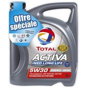 Huile moteur TOTAL ACTIVA INEO LONG LIFE essence/diesel 5W30 5L