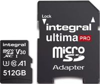 INTEGRAL Carte Micro SDXC Ultima Pro U3 512GB (100MB/s) +Adapt