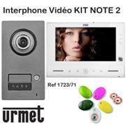Interphone video URMET KIT NOTE 2 mains libre - Contrôle d'accès - URMET 1723/71
