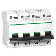 Interrupteur magnétothermique 4P 100A 10KA C 6 modules A9N18374