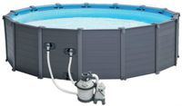 Piscine tubulaire ronde Graphite Intex Ø4.78 x 1.24 m