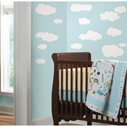 Jomoval Room Mates Sticker mural pour enfant Repositionnable Nuages blancs