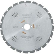 Lame de scie circulaire au carbure Metabo HW/CT 254X30 24 WZ 628220000 254 x 30 x 1.8 mm Nombre de dents: 24 1 pc(s)