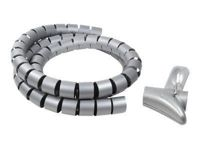 LogiLink Cable Spiral Wrapping Band - Recouvrement pour câble - 1.5 m - gris