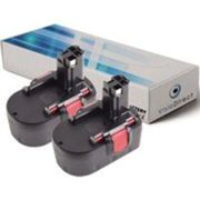 Lot de 2 batteries pour Bosch PSR 14.4V E-2(/B) perceuse visseuse 3000mAh 14.4V - Visiodirect -
