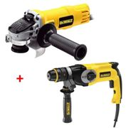 LOT DEWALT : Perforateur burineur 800W SDS+ 26MM D25124K + Meuleuse Ø125 MM 800W DWE4051