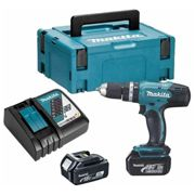 MAKITA Perceuse a percussion DHP453RFJ avec 2 batteries 18V 3Ah Li-ion et coffret Makpac