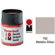Marabudecorlack acryl : à base deau acrylique craft paint 15ml pot métallique argent 113039782