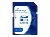 MediaRange - Carte mémoire flash - 16 Go - Class 10 - SDHC - bleu