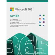 Microsoft licence Pack Office 365 Famille - 1 An - 6 utilisateurs