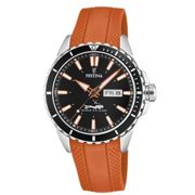 Montre Festina Originals F20378-5 - Montre Dateur Orange Homme