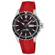 Montre Festina Originals F20378-6 - Montre Dateur Rouge Homme