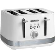 morphy richards - grille-pains 4 fentes 1800w blanc - m248021ee