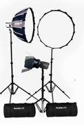 Nanlite Forza 60 LED tripple kit (w/ light stand, fresnel and softbox)