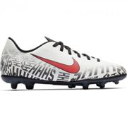 Nike Nike Chaussures de football Football Neymar Jr VAPOR 12 CLUB FG Enfant 2019 WHITE/CHALLENGE RED-BLACK 35,5