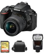 NIKON D5600 reflex 24.2 mpix KIT AF-P 18-55MM F3.5-5.6G VR + SD 64Go + Sac + SB700 Speedlight Noir